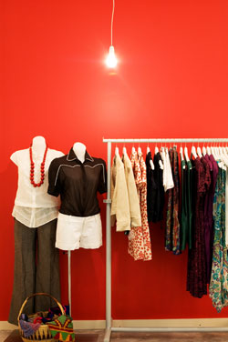 Colorful image from women's clothing store