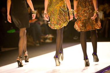 Image of models on runway at fashion show